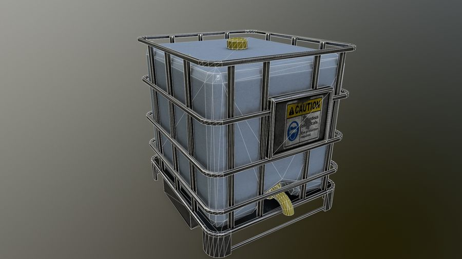 Zbiornik na wodę royalty-free 3d model - Preview no. 15