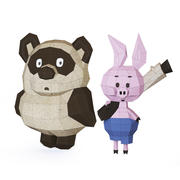 Cartoon Bear and Pig 3d model