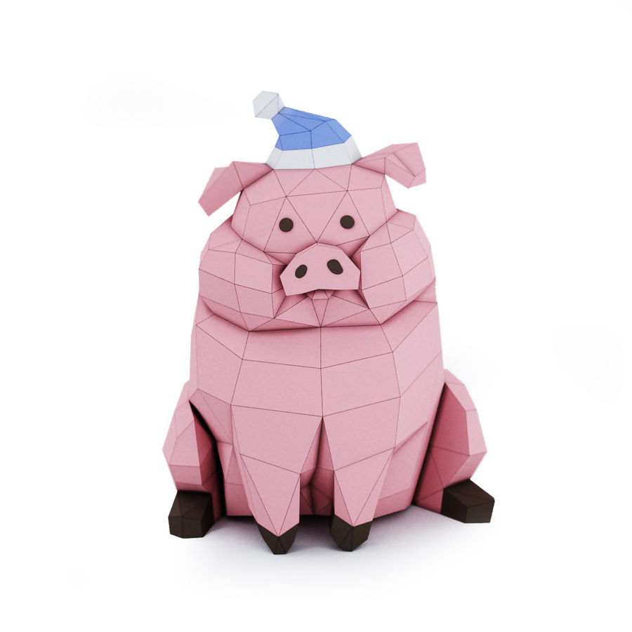 Pig Waddles royalty-free 3d model - Preview no. 1