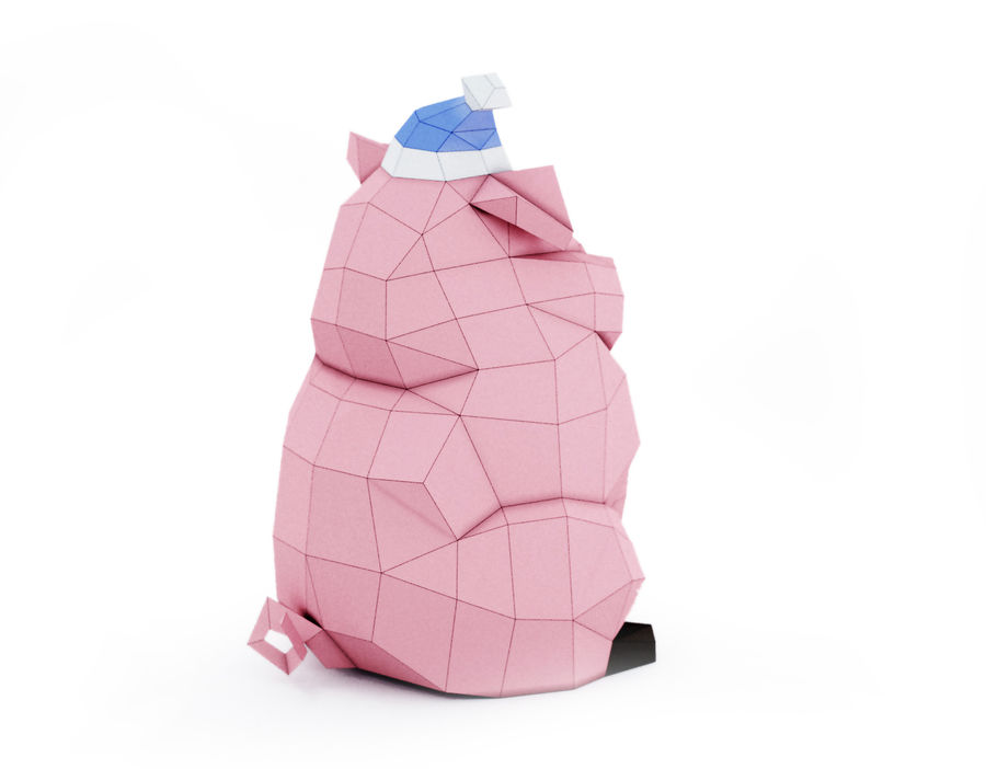 Pig Waddles royalty-free 3d model - Preview no. 3