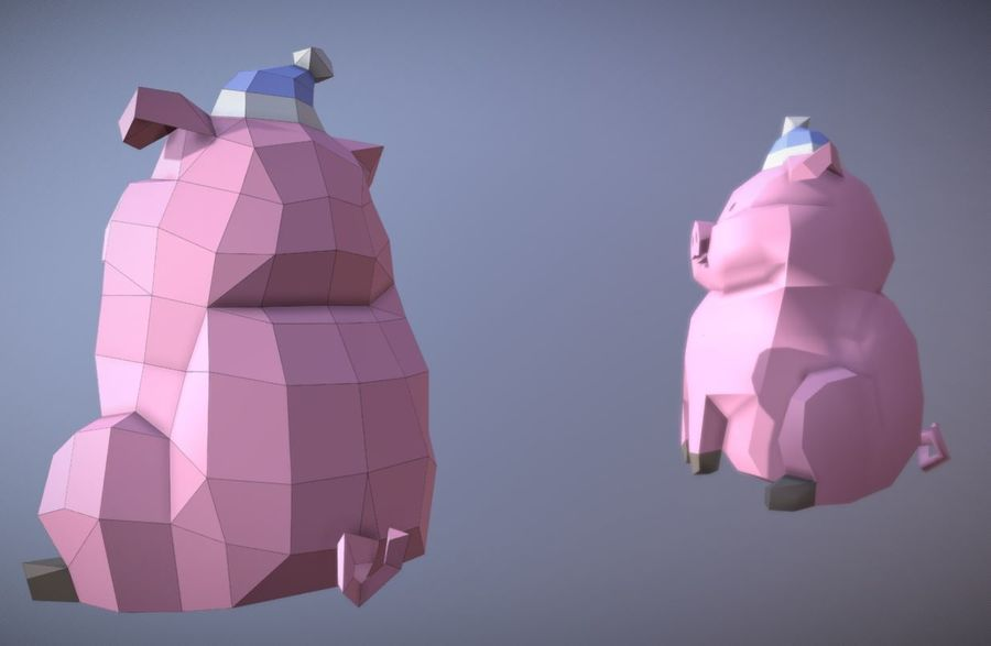 Pig Waddles royalty-free 3d model - Preview no. 5