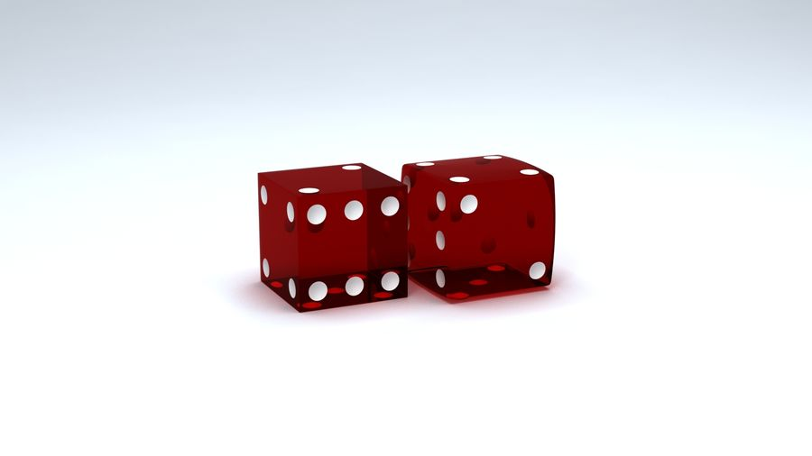Dices royalty-free 3d model - Preview no. 2