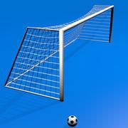 Футбольный мяч с мячом 3d model