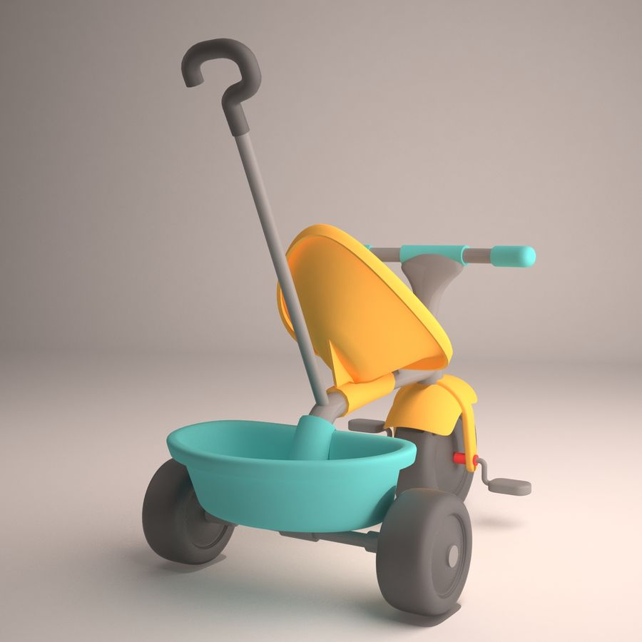 Bicycle Child royalty-free 3d model - Preview no. 4