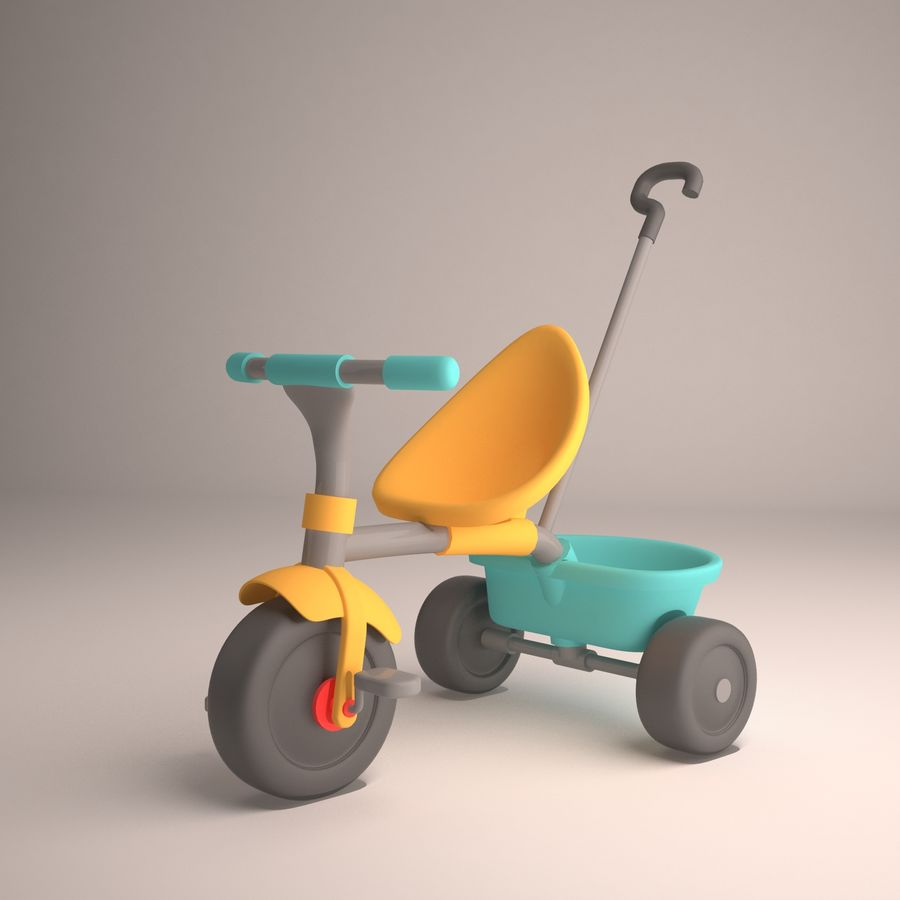 Bicycle Child royalty-free 3d model - Preview no. 2