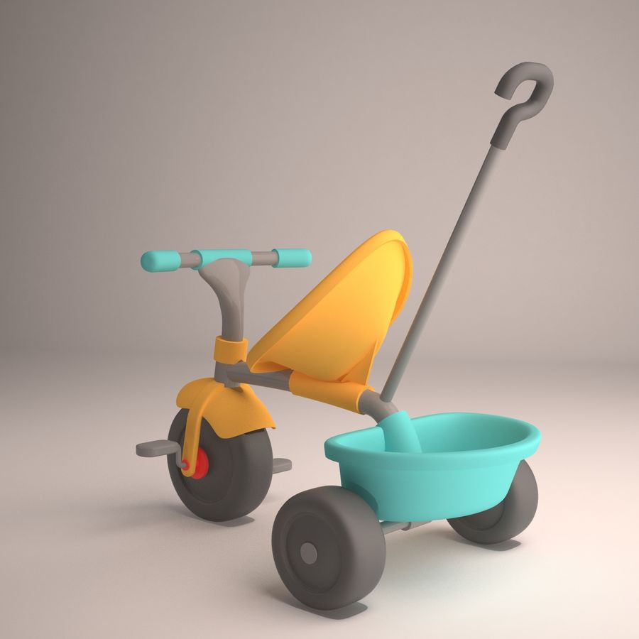 Bicycle Child royalty-free 3d model - Preview no. 3