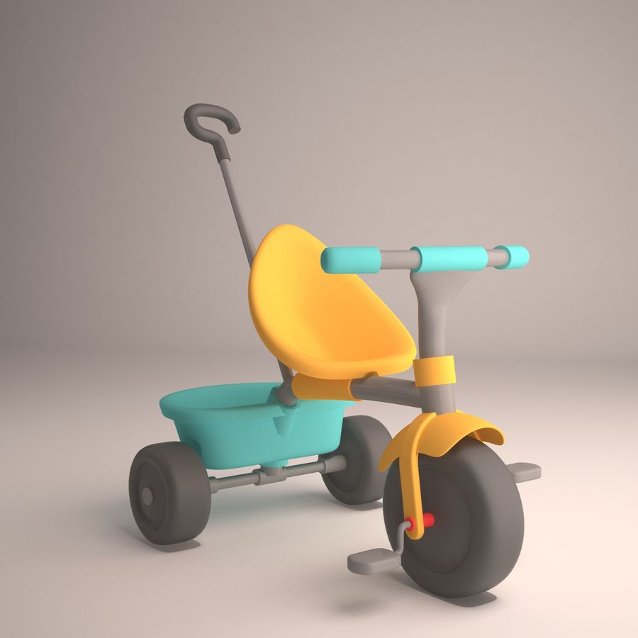 Bicycle Child royalty-free 3d model - Preview no. 1