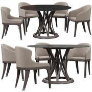 Potocco餐椅 3d model