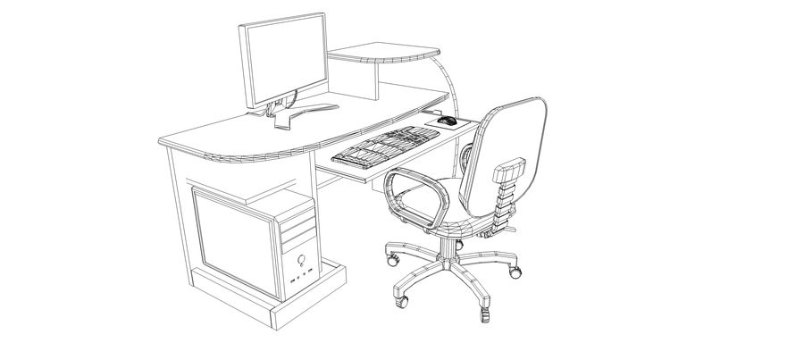Desktop Computer royalty-free 3d model - Preview no. 8