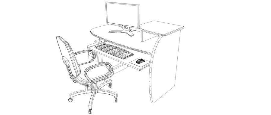 Desktop Computer royalty-free 3d model - Preview no. 7