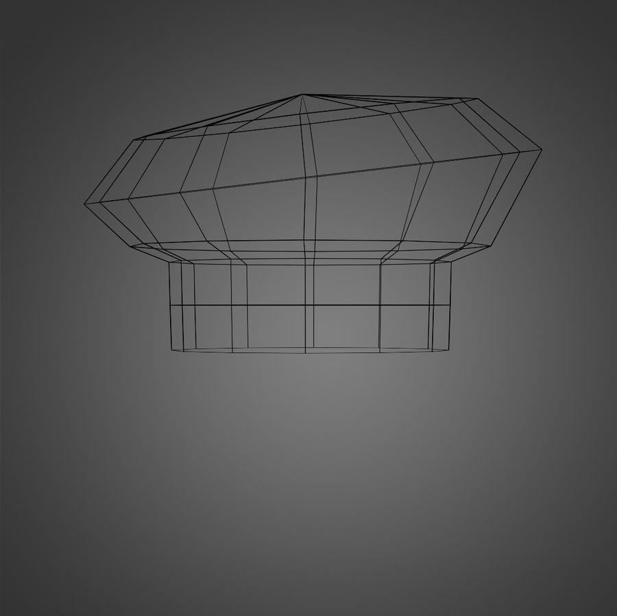 Kapelusz szefa kuchni royalty-free 3d model - Preview no. 6