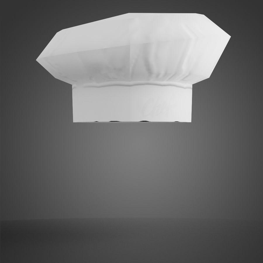 Kapelusz szefa kuchni royalty-free 3d model - Preview no. 7