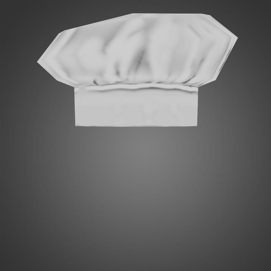 Kapelusz szefa kuchni royalty-free 3d model - Preview no. 5