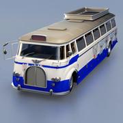 Cartoon bus 3d model