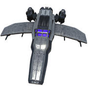 Space Fighter(1) 3d model