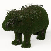 Hippo Grass Topiary 3d model
