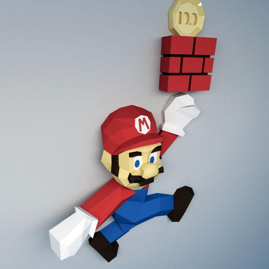 Mario Bros royalty-free 3d model - Preview no. 7