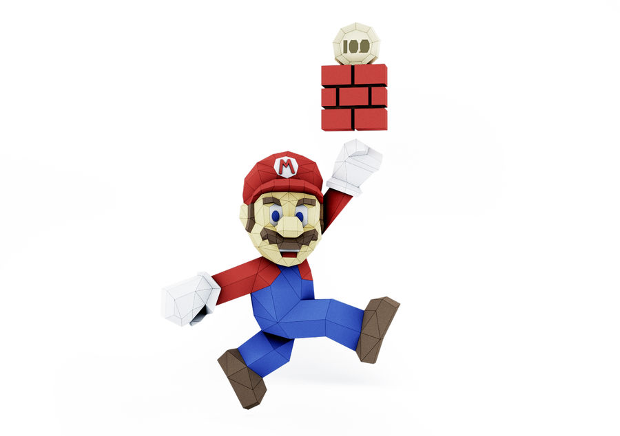 Mario Bros royalty-free 3d model - Preview no. 2