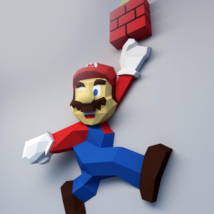 Mario Bros royalty-free 3d model - Preview no. 6