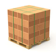Blocos ocos de argila e paletes de madeira 3d model