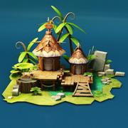 Naturalny dom z wyżywieniem 3d model
