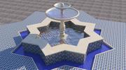 传统的摩洛哥喷泉 3d model