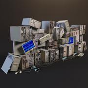 Kilka starych komputerów 3d model