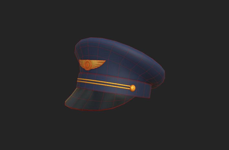 Pilot Hat royalty-free 3d model - Preview no. 17