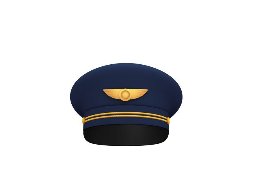Pilot Hat royalty-free 3d model - Preview no. 3