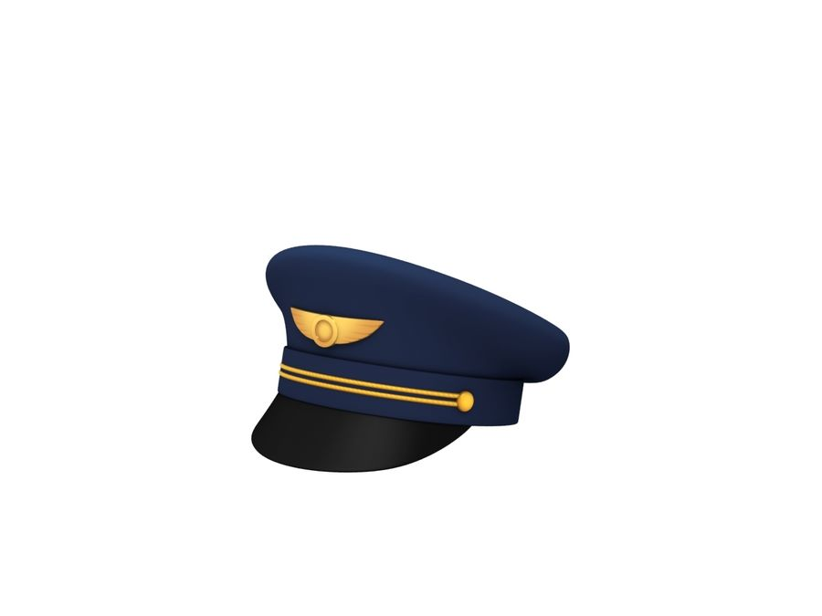 Pilot Hat royalty-free 3d model - Preview no. 1
