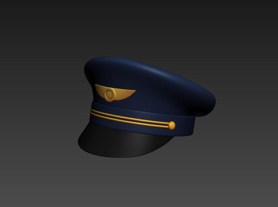 Pilot Hat royalty-free 3d model - Preview no. 8