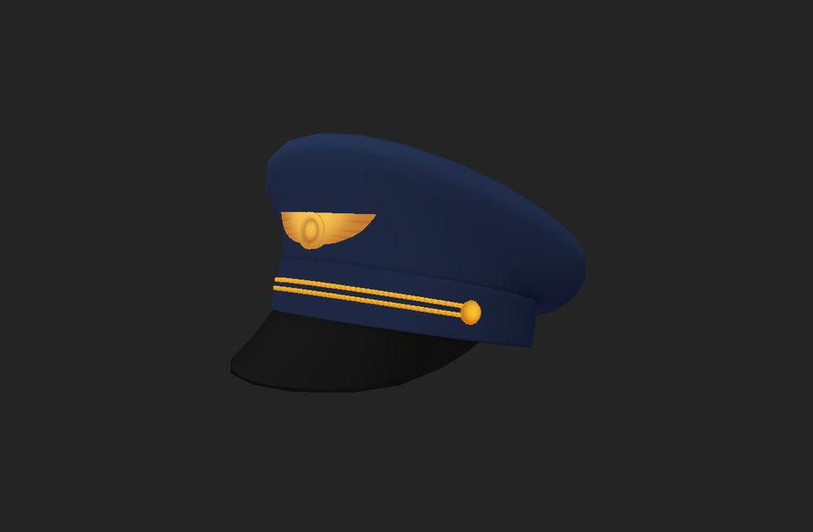 Pilot Hat royalty-free 3d model - Preview no. 15