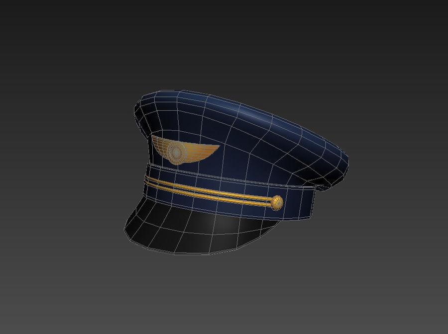 Pilot Hat royalty-free 3d model - Preview no. 10
