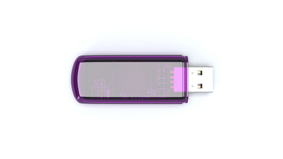 USB Flash drive royalty-free 3d model - Preview no. 11
