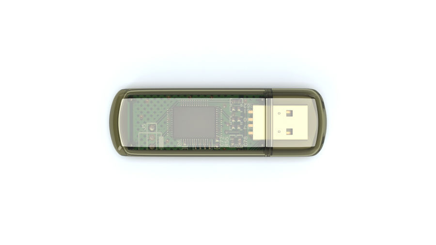 USB Flash drive royalty-free 3d model - Preview no. 7