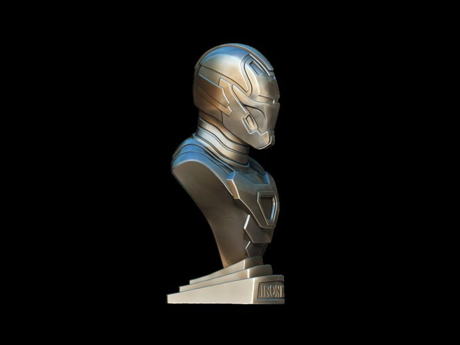 Buste d'Iron Man royalty-free 3d model - Preview no. 8