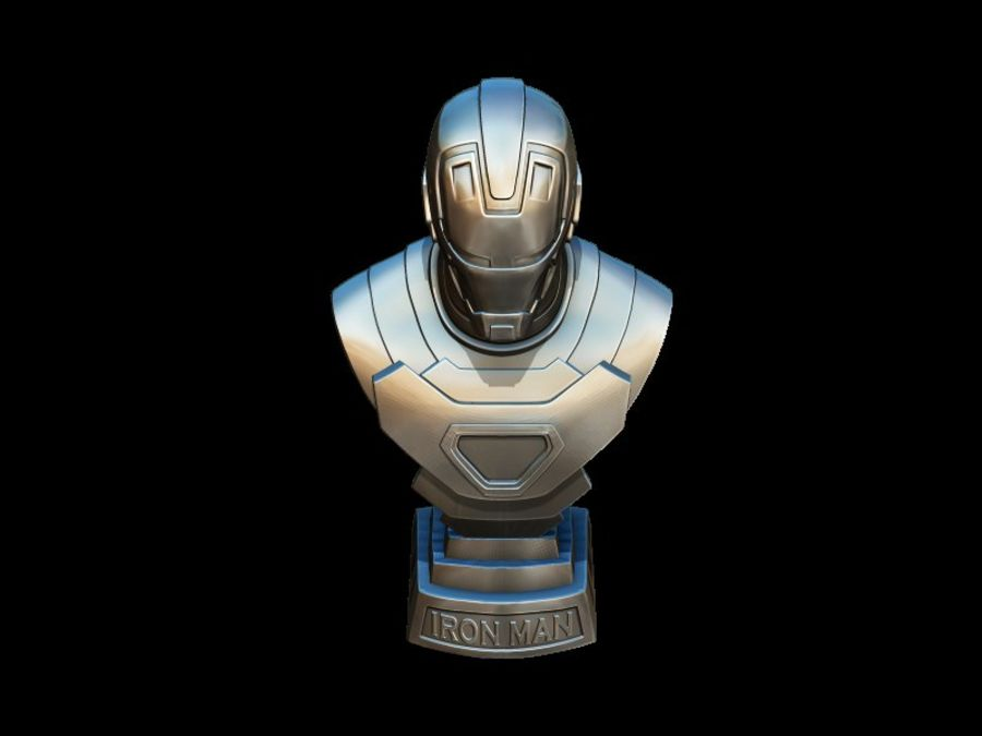 Buste d'Iron Man royalty-free 3d model - Preview no. 12