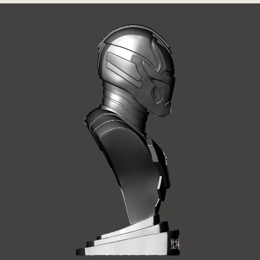 Buste d'Iron Man royalty-free 3d model - Preview no. 16