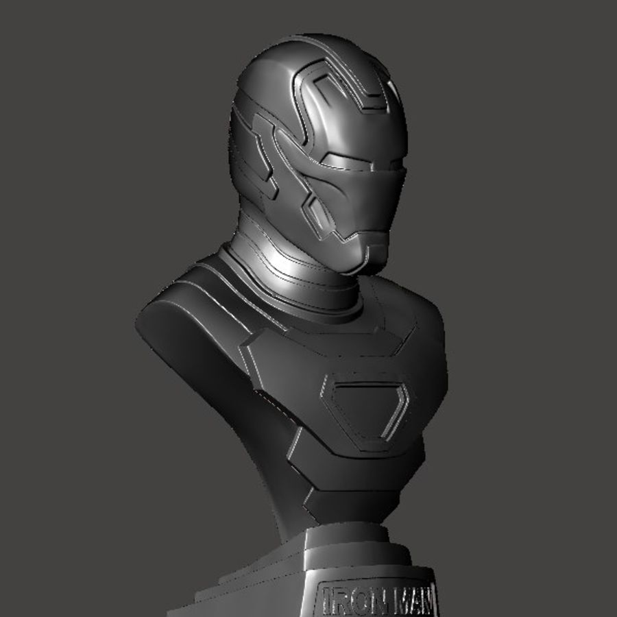 Buste d'Iron Man royalty-free 3d model - Preview no. 15