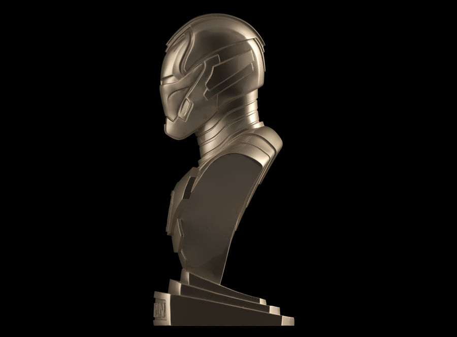 Buste d'Iron Man royalty-free 3d model - Preview no. 3