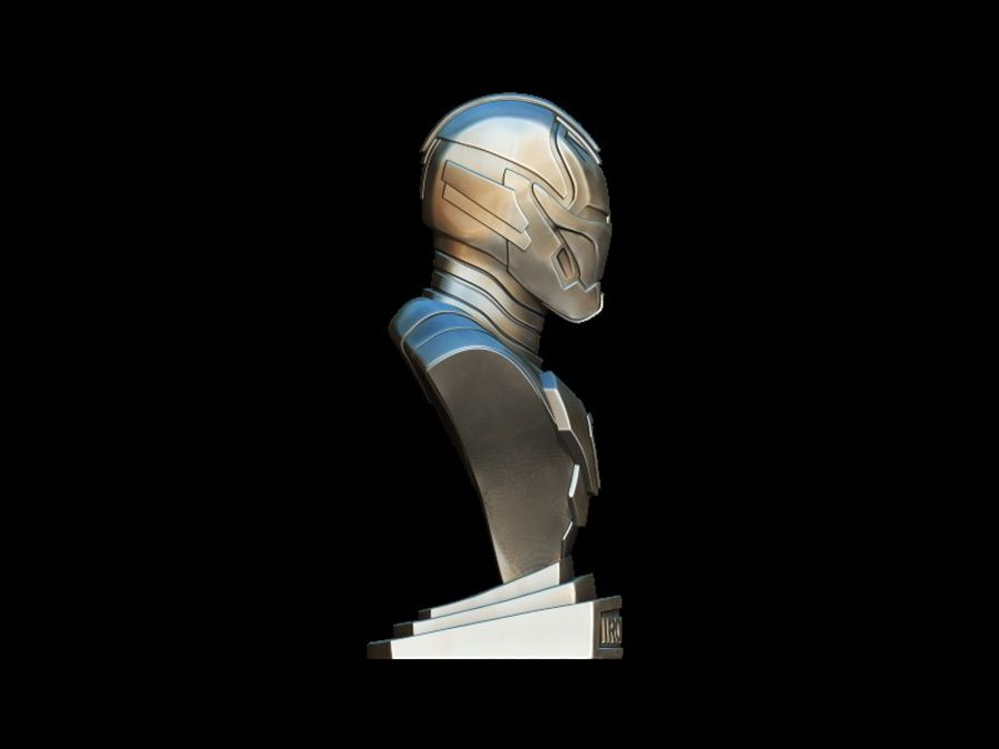 Buste d'Iron Man royalty-free 3d model - Preview no. 9