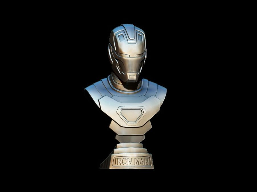 Buste d'Iron Man royalty-free 3d model - Preview no. 5