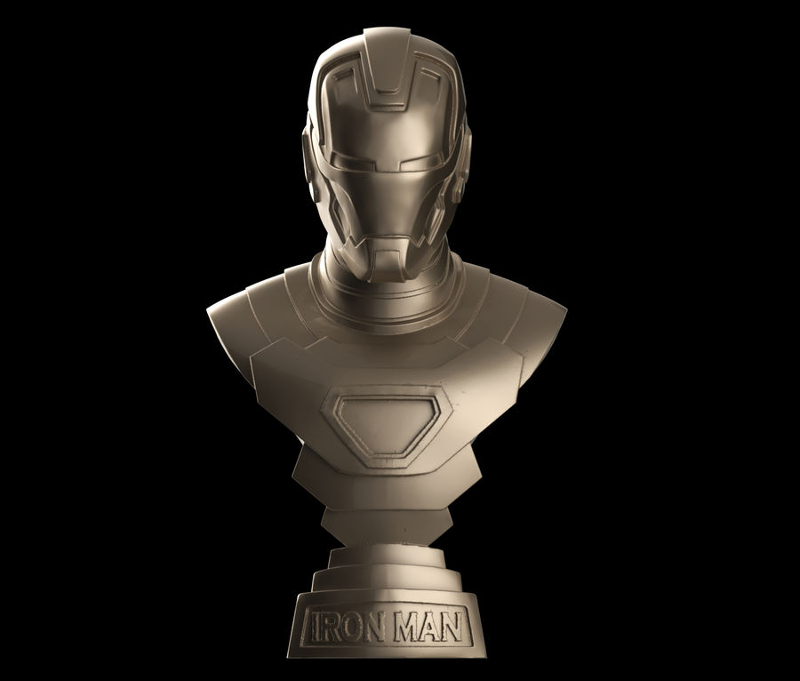 Buste d'Iron Man royalty-free 3d model - Preview no. 2