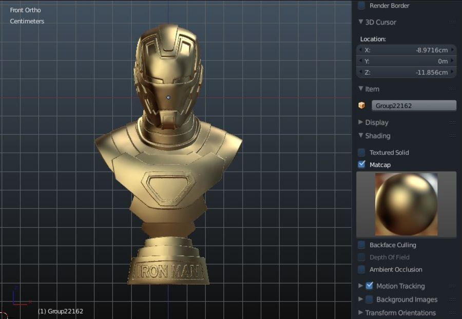 Buste d'Iron Man royalty-free 3d model - Preview no. 13