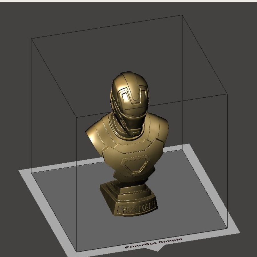 Buste d'Iron Man royalty-free 3d model - Preview no. 18