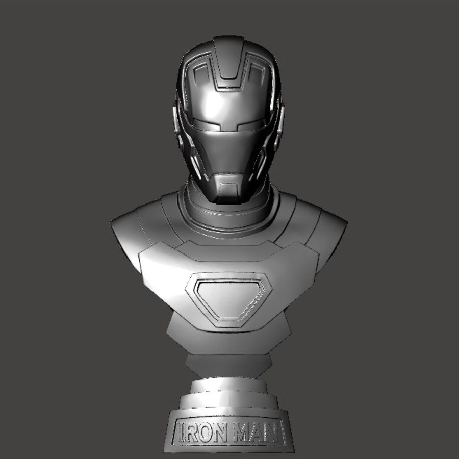 Buste d'Iron Man royalty-free 3d model - Preview no. 14