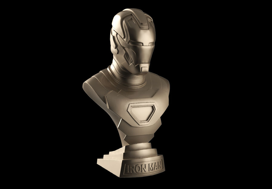 Buste d'Iron Man royalty-free 3d model - Preview no. 1