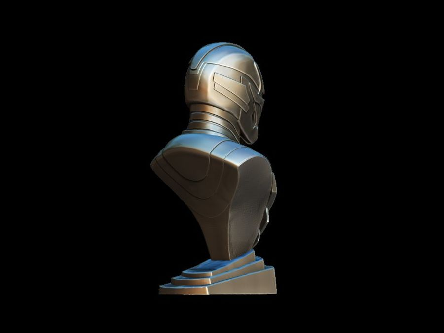 Buste d'Iron Man royalty-free 3d model - Preview no. 10