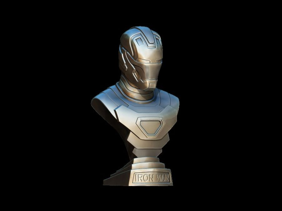 Buste d'Iron Man royalty-free 3d model - Preview no. 6