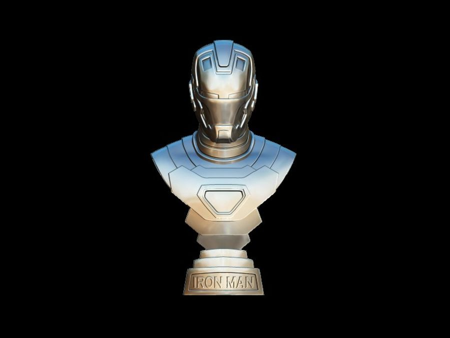 Buste d'Iron Man royalty-free 3d model - Preview no. 4